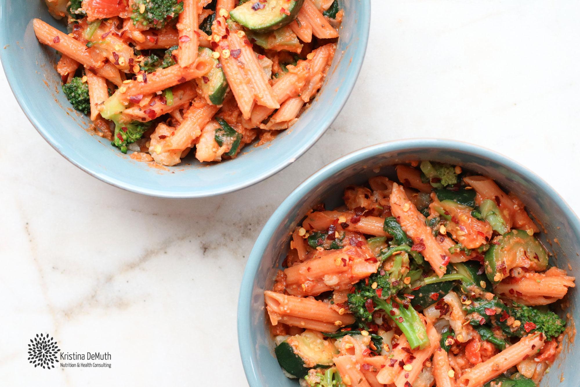 vegan rose pasta