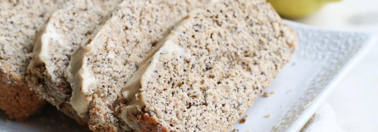 vegan Lemon Poppy Seed Bread