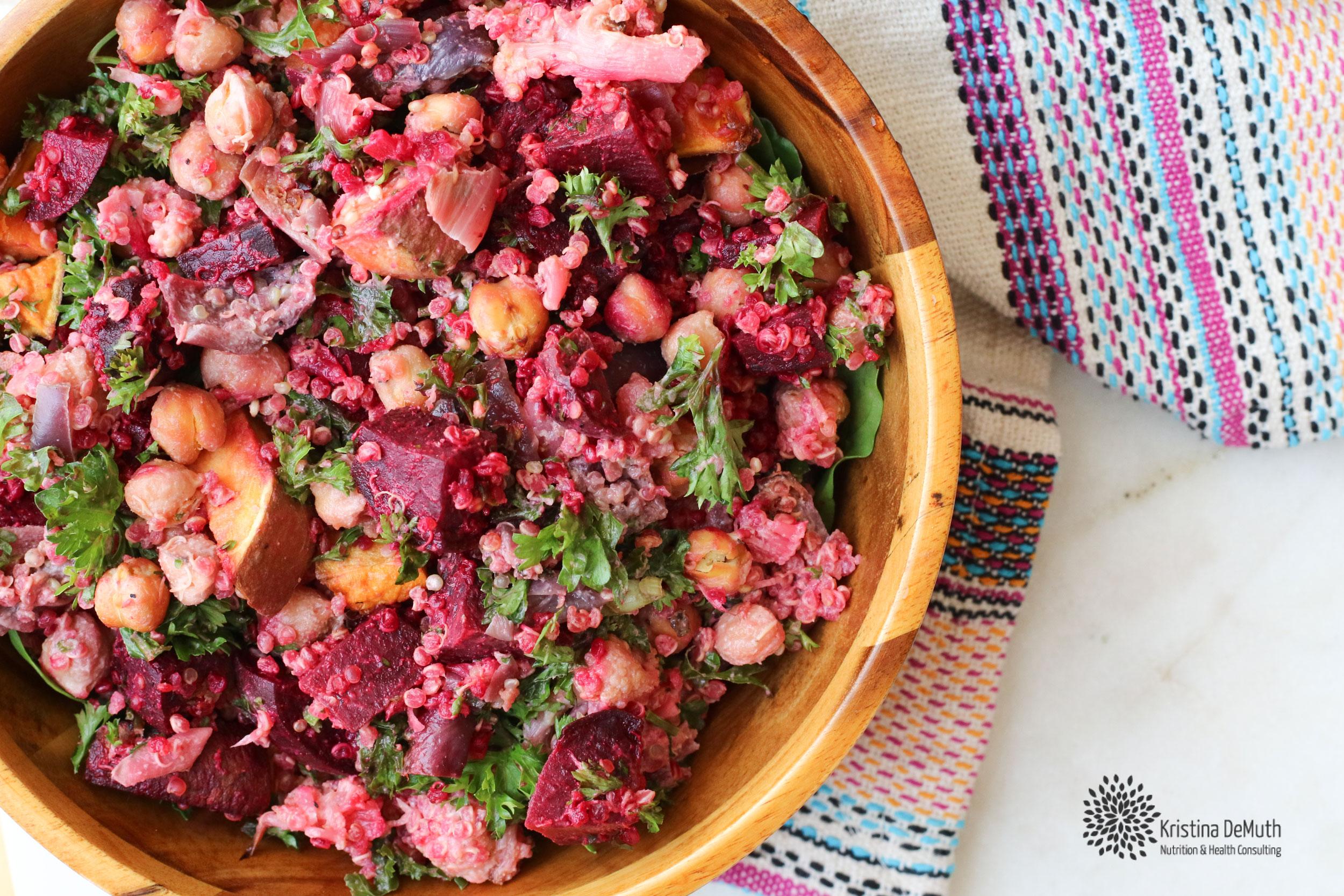 Vegan Roasted Vegetable Beet Salad