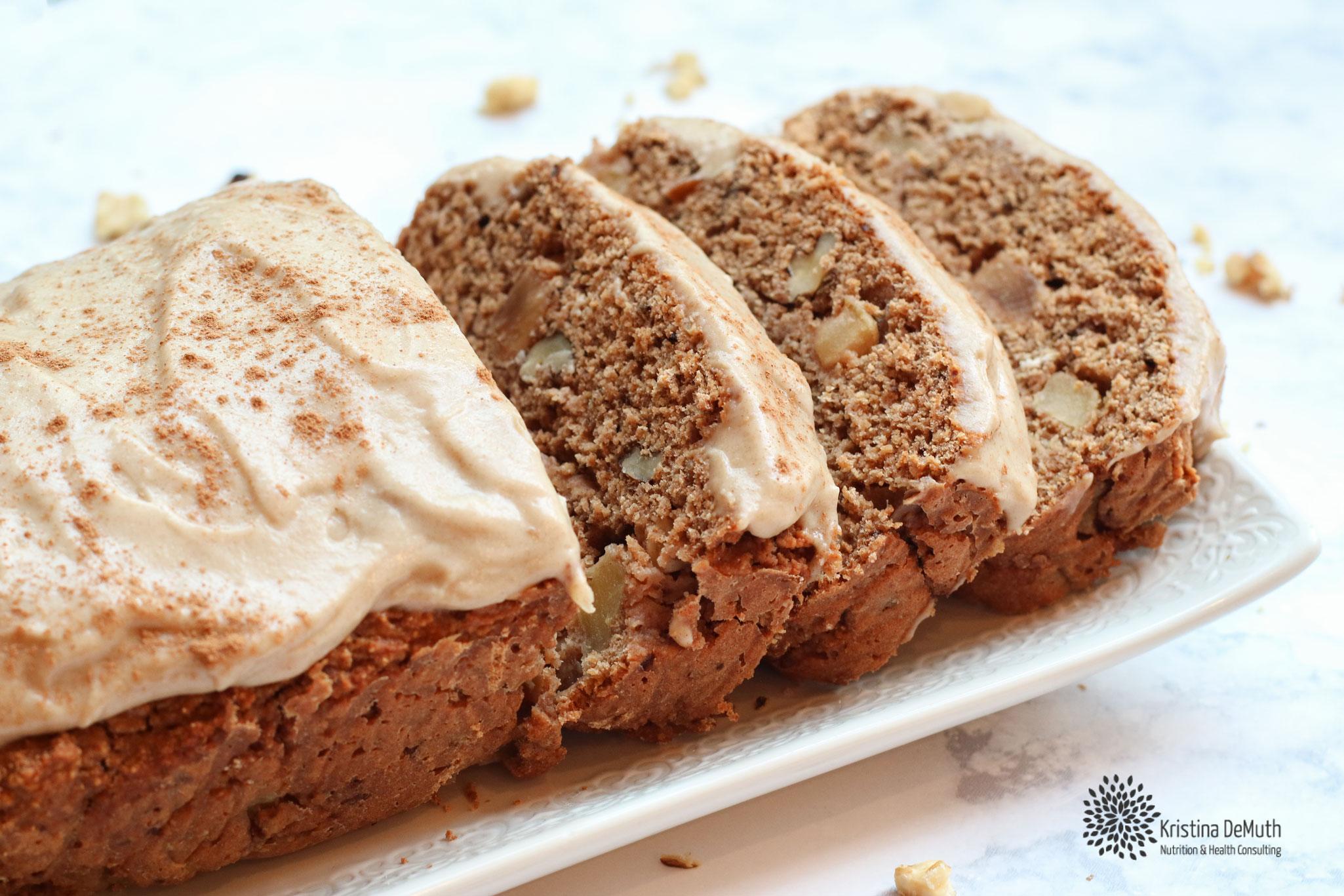 Vegan Cinnamon Apple Walnut Bread
