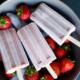 Vegan Strawberry banana popsicles